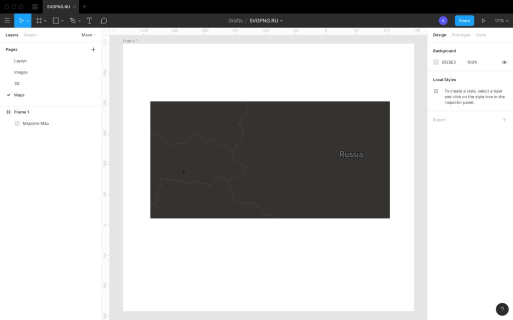 Карта для Figma - темный скин