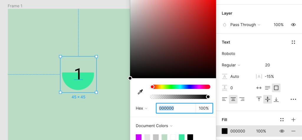 Цвет заливки наполнения
