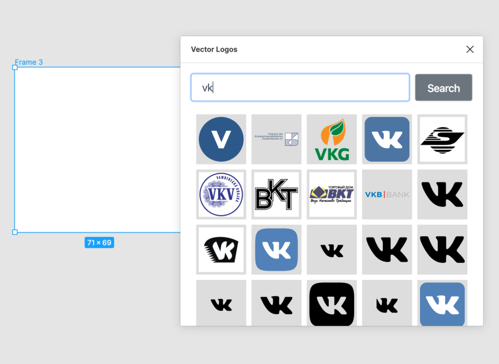 Векторные логотипы в Figma