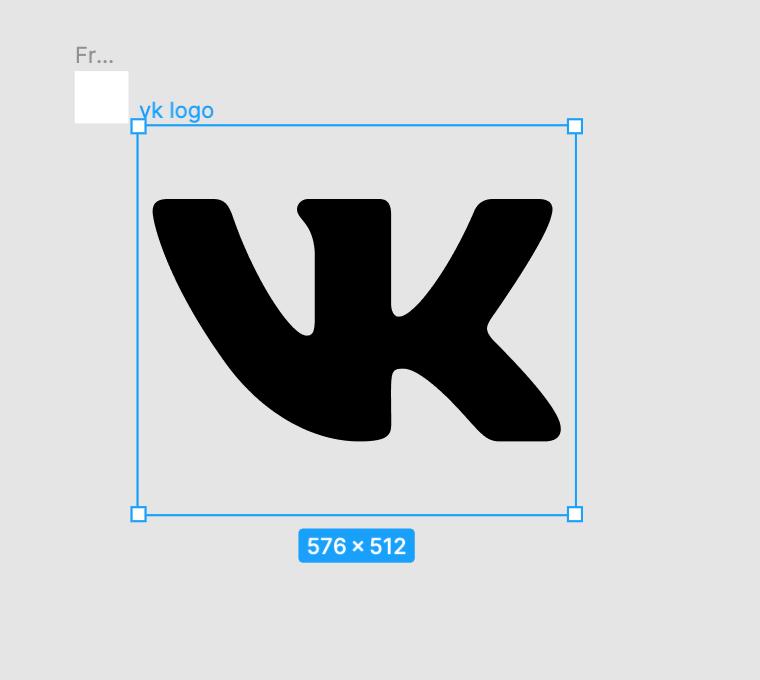 Логотип VK в Figma