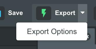 Опции экспорта