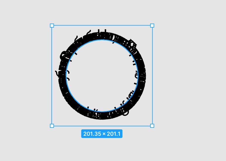 Текст по кругу в Фигме