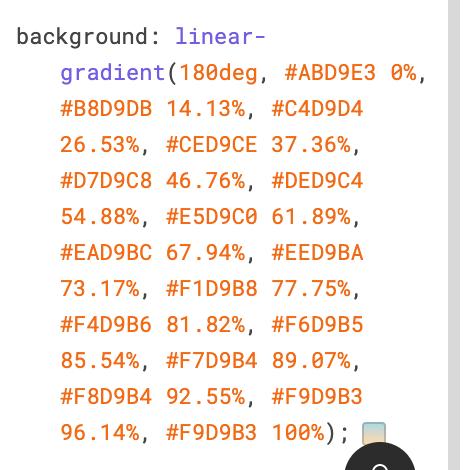 Полученный градиент в CSS