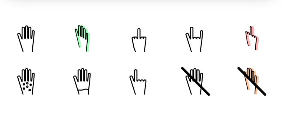 Иконки рук