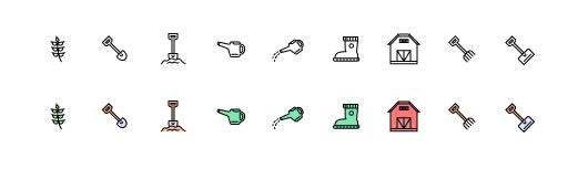 Иконки для дачи и деревни